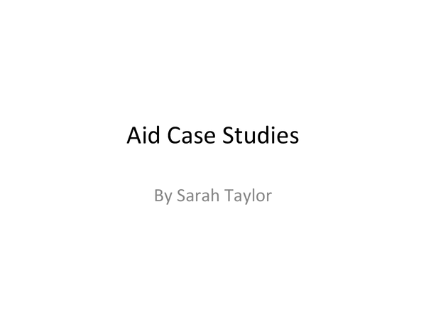 Preview of Aid Case Studies
