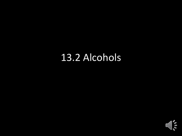Preview of Alcohols