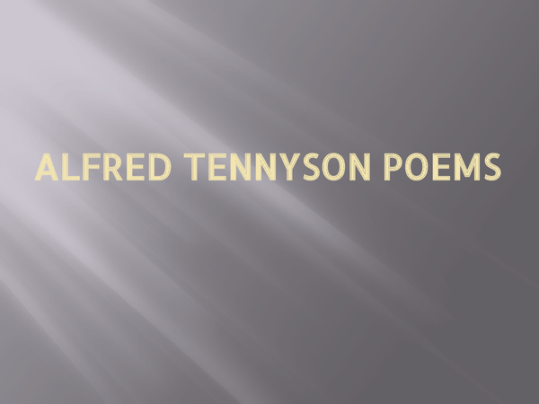 Preview of Alfred Tennyson poems