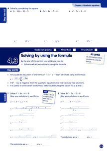 Preview of Algebra L3 Sample Pages