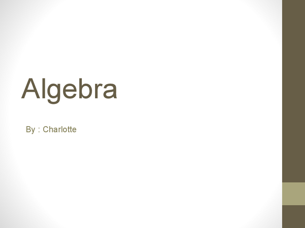 Preview of Algebra PowerPoint