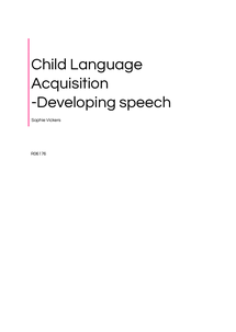 Preview of All you need to know on Child Language Acquisition