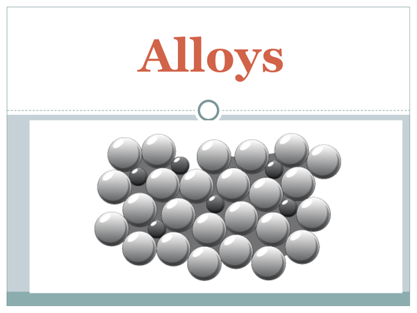 Preview of Alloys