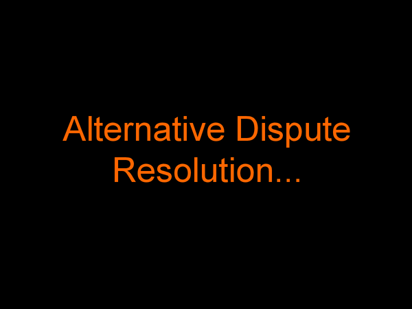 Preview of Alternative Dispute Resoluition