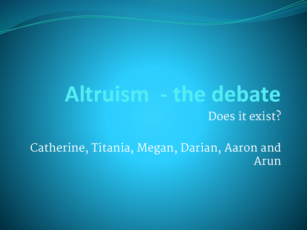 Preview of Altruism