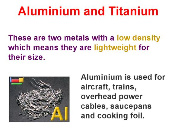 Preview of Aluminium and Titanium