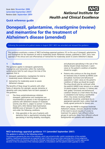 Preview of Alzheimers quick