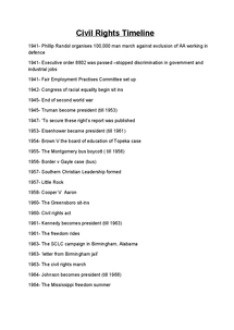 Preview of American Civil Rights Timeline