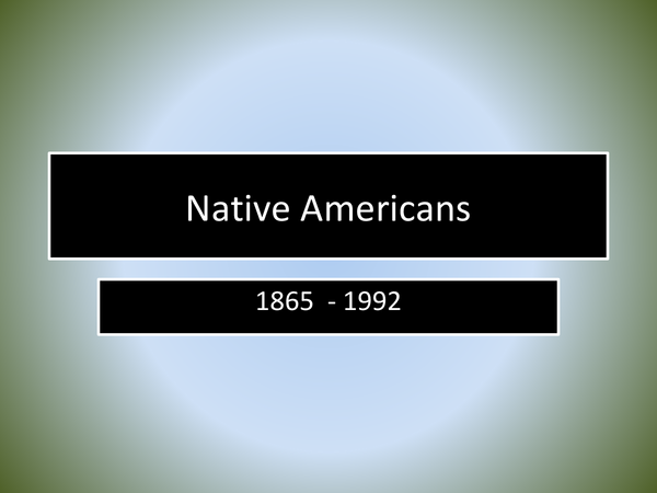 Preview of American History: Native Americans