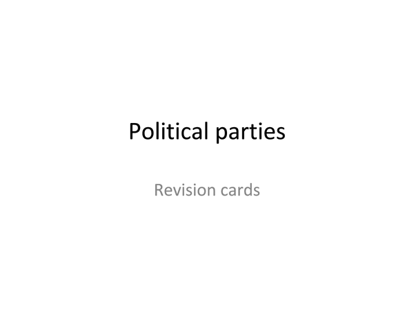 Preview of American political parties revision cards
