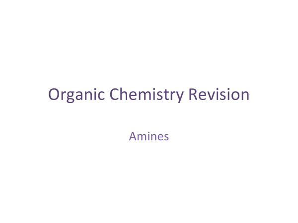Preview of Amines