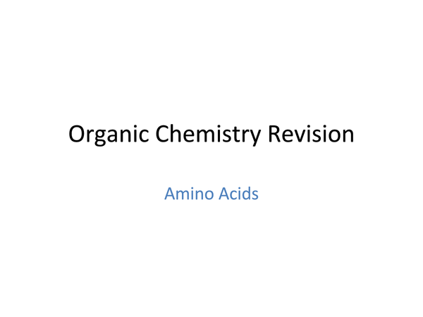 Preview of Amino Acids