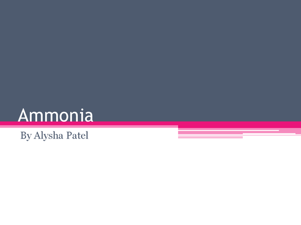Preview of Ammonia