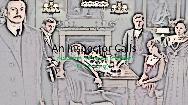 Preview of An Inspector Calls - Quotation Hunt