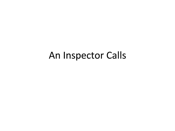 Preview of An Inspector Calls PP