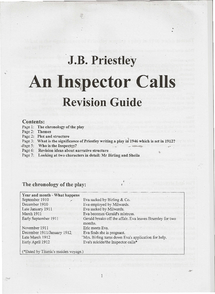 Preview of An inspector calls revision guide. helpful :)