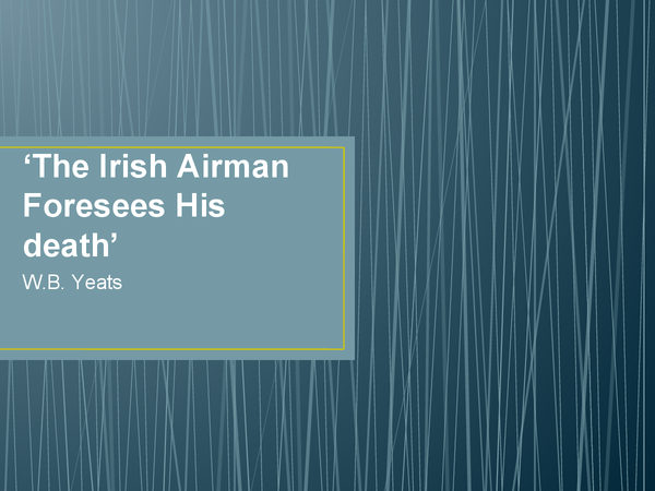 Preview of An Irish Airman Foresees His Death