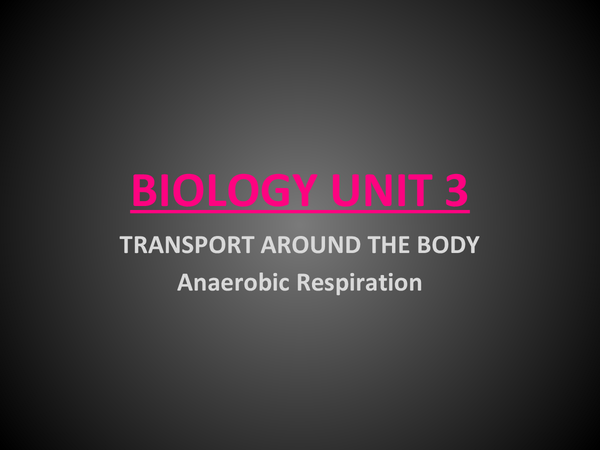 Preview of Anaerobic Respiration