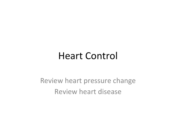Preview of Analysis of Heart pressures