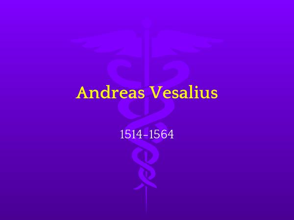 Preview of Andreas Vesalius