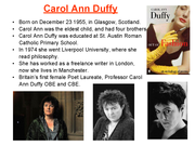 anne hathaway carol ann duffy essay Anne hathaway carol ann duffy essay compare and contrast anne hathaway and frau freud in duffy s aqa duffy lit poetry smile analysis for anne hathaway and.