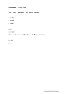 Preview of Answers to Business Studies Worksheet questions