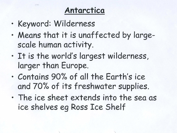 Preview of Antarctica - AQA AS Geography