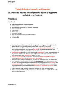 Preview of Antibiotic Effectiveness Experiment