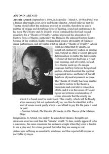 Preview of Antonin Artaud