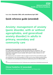 Preview of anxiety quick reference