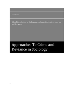 Preview of Approaches to Crime and Deviance Revision Booklet