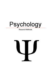 Preview of AQA A-Level Psychology Research Methods Revision Notes