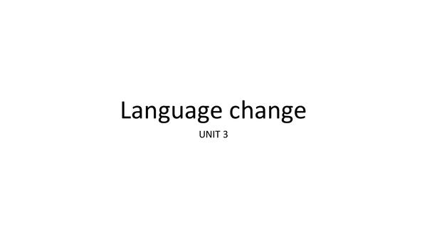 Preview of AQA English Language ENGA3 - Language change notes