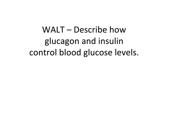 Preview of AQA A2 Biology Unit 5 - Control of Blood Glucose Concentration
