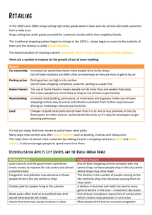 Preview of AQA A2 Geography World Cities: Retailing with Meadowhall and Merry Hill Case Study
