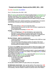 Preview of AQA A2 History - The USSR - Detailed Revision Notes on Brezhnev