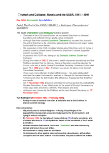 Preview of AQA A2 History - The USSR - Detailed Revision Notes on The Collapse of the Soviet Union