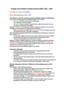 Preview of AQA A2 History - The USSR - Khrushchev - Detailed Revision Notes
