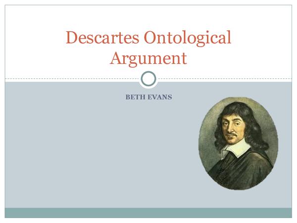 Preview of AQA A2 Unit 3B: Descartes Ontological Argument