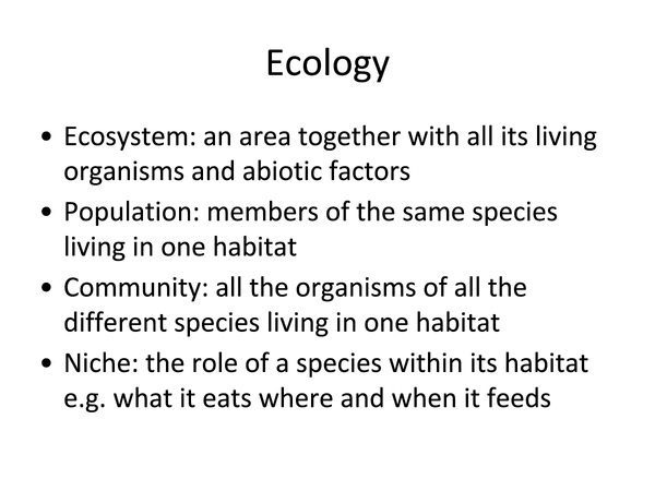 Preview of AQA A2 unit 4 ecology