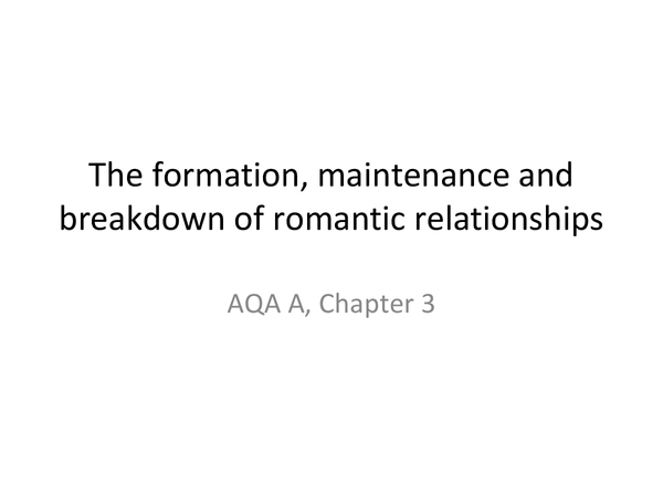 Preview of AQA A, relationships