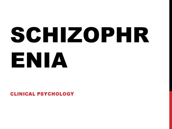 Preview of AQA A Schizophrenia