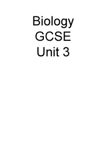 Preview of AQA Additional Science - Biology B3
