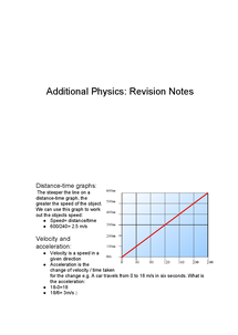 Preview of AQA Additional Physics Notes