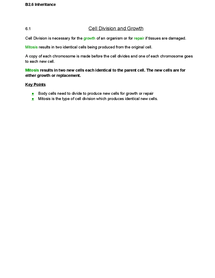Preview of AQA Additional Science Biology - Inheritance