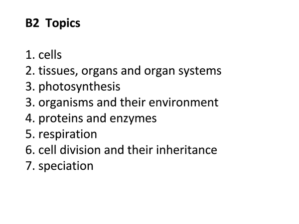 Preview of AQA Additional science - biology (Topic Overview)