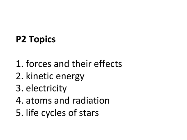 Preview of AQA Additional science - physics (Topic Overview)