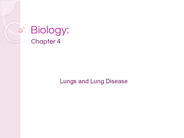 Preview of AQA AS Biology Chapter 4 - Lungs And Lung Disease - Revision Cards