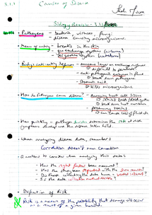 Preview of AQA AS Biology Revision Notes - Unit 1 Causes of Disease (3.1.1)