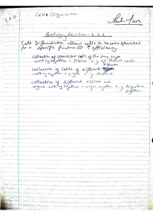 Preview of AQA AS Biology Revision Notes - Unit 2 Cellular Organisation (3.2.6)